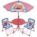 Frozen Elsa Anna Garden Lounge, Terrace set 4 pieces, 2 chairs, table, umbrella