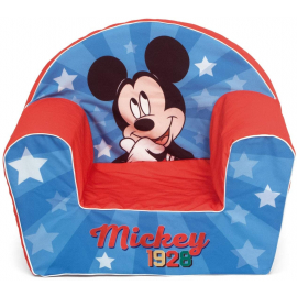 Disney Mickey Mouse Single Sofa Armchair, Foam Removable Pouf for Children