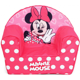 Disney Minnie Mouse Single Sofa Armchair, Foam Removable Pouf for Children