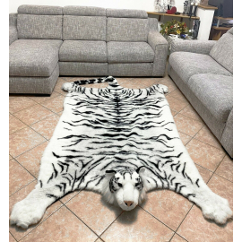 Giant Brown Tiger Plush White 200 x 135 cm, Sofa Cover, Bedspread