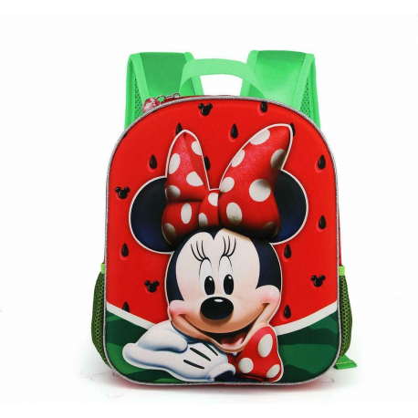 Minnie Mouse Disney Frutti Schoolbag 3D Backpack Kindergarten Kindergarten free time
