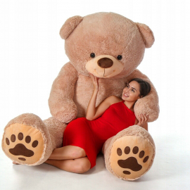 Cuddly Giant Bear Plush 220 cm Beige, Perfect Gift for Adult Children