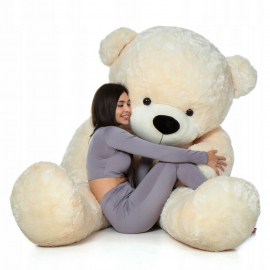 Cuddly Giant Bear Plush 220 cm Ivory , Perfect Gift for Adult Children