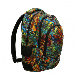 St.Right Flames Backpack Medium School, High School
