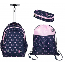 St.Right Cats Backpack Trolley School Trolley for Girl