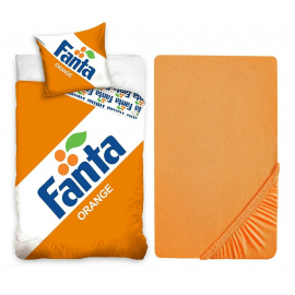 Fanta 3 Pieces Set Single Bed Duvet Cover, Pillowcase + Sheets under