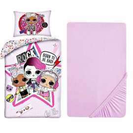 LOL Surprise Bright 3 Pieces Set Single Bed Duvet Cover, Pillowcase + Sheets under