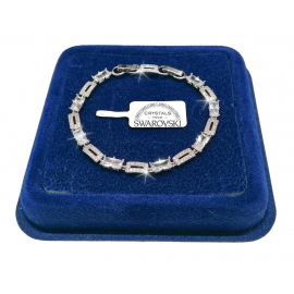 Classic Tennis Bracelet 5mm Woman, 18k White gold pl. With Swarovski crystals