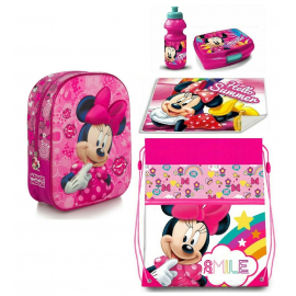Minnie backpack set 3D Backpack, Sport Bag, Kindergarten School Snack Set