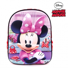 Minnie Mouse Disney Smile Schoolbag 3D Backpack Kindergarten Kindergarten Leisure
