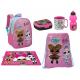 LOL Surprise Glitter Schoolbag Backpack + Sports Bag set School kindergarten 6 pieces