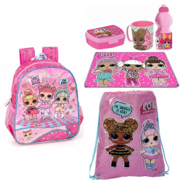 LOL Surprise Set Backpack, Satin Backpack, Sports Bag, Leisure School Leisure Bar
