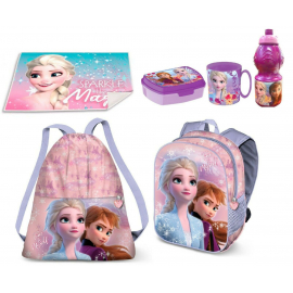 Minnie Mouse and Unicorn Backpack Set Satin Backpack, Sports Bag, Leisure Snack Door Kindergarten School