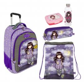 Gorjuss Catch A Falling Star Set 3pcs Backpack Trolley School