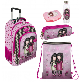 Gorjuss You Can Have Mine Set 3pcs Backpack Trolley School