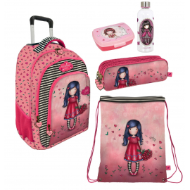Gorjuss Love Grows Set 3pcs Backpack Trolley School