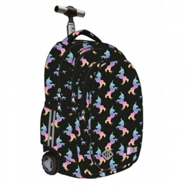 St.Right Sequin Cats Backpack Trolley School Trolley for Girl