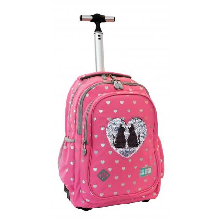school backpack Trolley Studio Pets Dog end Cat Pink original Paso