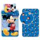 Minnie Mouse Flowers 3 Pieces Set Single Bed Duvet Cover, Pillowcase + Sheets under