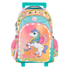 St.Right Sweet and Pink Backpack Trolley School Trolley for Girl