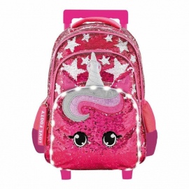Footy Unicorn Led Large Elementary School Trolley Backpack for Girls