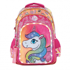 Footy Unicorn Led Large Elementary School Backpack for Girls