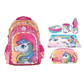 Footy Unicorn Led Large Elementary School Backpack for Girls