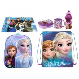 Frozen 2 Disney Set Backpack 3D Backpack, Sports Bag, Kindergarten School Snack Bag