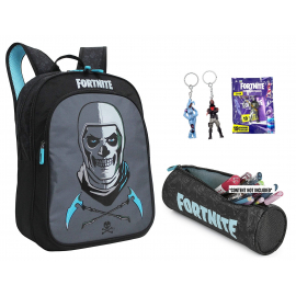 Fortnite set Backpack + Case + Keychain Blade, Medium School, High School Boy