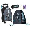 Fortnite Skull Trooper set 2in1 Zaino con Trolley + Astuccio + Sacca Scuola Elementare Media Ragazzi
