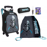 Fortnite Skull Trooper set Backpack Trolley 4pcs