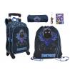 Fortnite Raven set 2in1 Zaino con Trolley + Astuccio + Sacca Scuola Elementare Media Ragazzi