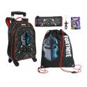 Fortnite Black Night set Backpack Trolley 4pcs