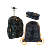 St.Right FOOTBALL Set Backpack Trolley School Trolley for Boy