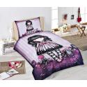 Gorjuss Single Bed Set Duvet Cover 140x200 + Pillowcase Doll Purple