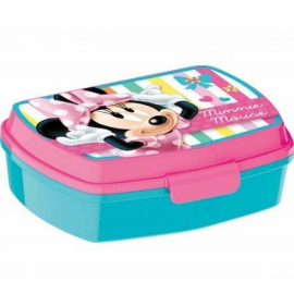 LUNCH BOX breakfast box for LUNCH SNACK sandwich school, kindergarten child Minnie Stripes