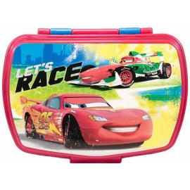 LUNCH BOX breakfast box for LUNCH SNACK sandwich school, kindergarten child Cars Red