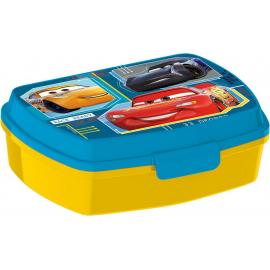 LUNCH BOX breakfast box for LUNCH SNACK sandwich school, kindergarten child Cars Blue