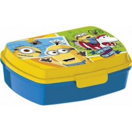 Minions LUNCH BOX breakfast box for LUNCH SNACK sandwich school, kindergarten child