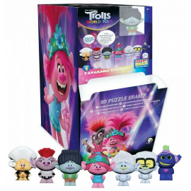 Espositore 24pcs - Trolls Puzzle MYSTERY MINIS in Box Display