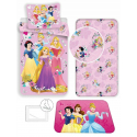 Princess Disney 4 Pieces Set Single Bed Duvet Cover, Pillowcase + Sheets under + Carpet