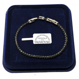 Classic Tennis Bracelet 5mm Woman, 18k gold pl. With Swarovski crystals