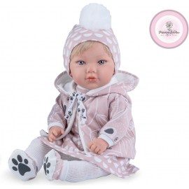 NINES D'ONIL Newborn Doll 45cm I Scented + Pillow + Pacifier Girl