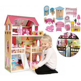 Sunny Day Beauty Salon Hairdresser House Including Pop-in Style Doll