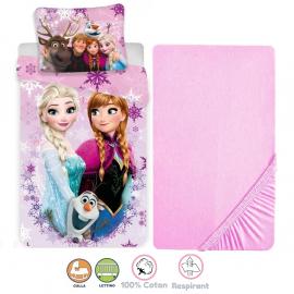 Disney Minnie Mouse Pink 3 Pieces Set Child Bed Duvet Cover, Pillowcase + Sheets under