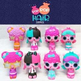 24pcs POP Hair Surprise Doll Brushes + Long Locks Display Box
