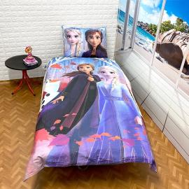 Frozen Two Sisters Set lenzuola, Copripiumino 140x200 letto singolo 100% cotone Biancheria da letto