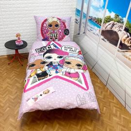 LOL Surprise set of sheets single bed DUVET COVER 140x200cm