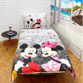 Dinsey Minnie Mouse set of sheets single bed DUVET COVER 140x200cm