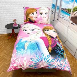 Frozen Compleanno Set lenzuola, Copripiumino 140x200 letto singolo 100% cotone Biancheria da letto